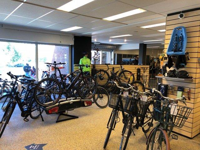 Billede af nogle af de billige cykler vi har til salg i Kolding og Vejen